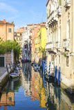 Imagem do canal em Veneza Imagem de Stock