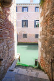 Imagem do canal em Veneza Foto de Stock