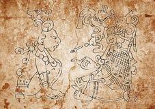Imagem do códice maia de Dresden Fotografia de Stock