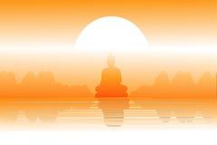 Imagem do cenário e da Buda Foto de Stock Royalty Free