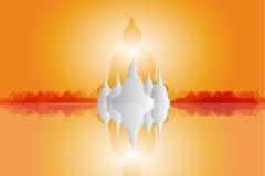 Imagem do cenário e da Buda Fotografia de Stock