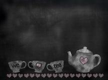Imagem do chá do quadro-negro ou do quadro Imagens de Stock