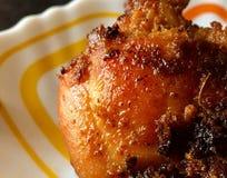 Imagem do close up da fritada picante da galinha de Kerala foto de stock royalty free