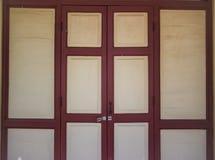 Imagem do close up da porta de madeira velha Foto de Stock Royalty Free