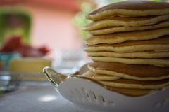 Imagem do close-up das panquecas Imagem de Stock Royalty Free