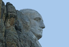 Imagem do close up de George Washington em Mt Rushmore Imagem de Stock Royalty Free