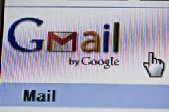 Imagem do close up de Gmail Fotos de Stock