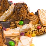 imagem do close-up de muitas cookies foto de stock
