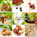 Imagem do close-up diferente das frutas e legumes Imagem de Stock Royalty Free