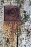 Imagem do close up do parafuso oxidado fotografia de stock royalty free
