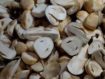 A imagem do cogumelo fresco da fatia Imagem de Stock Royalty Free