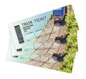 Imagem do conceito do bilhete de trem Os índices da imagem são inventados totalmente fotos de stock