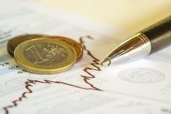 Imagem do conceito da análise de investimento Foto de Stock