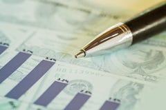 Imagem do conceito da análise de investimento Fotografia de Stock Royalty Free