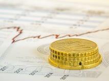 Imagem do conceito da análise de investimento Fotos de Stock