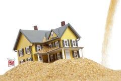 Imagem do conceito da crise dos bens imobiliários Foto de Stock