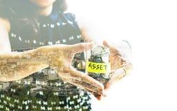 Imagem do conceito da economia e do investimento Fotografia de Stock