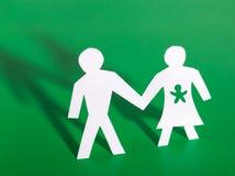 Imagem do conceito da família de papel do entalhe Imagens de Stock Royalty Free