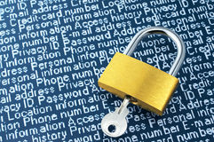 Imagem do conceito da segurança do Internet Foto de Stock Royalty Free