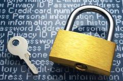 Imagem do conceito da segurança do Internet Imagens de Stock Royalty Free