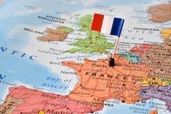 Imagem do conceito de França - hot spot do mundo Imagem de Stock Royalty Free