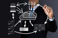 Imagem do conceito de tecnologias da nuvem alta Imagem de Stock Royalty Free
