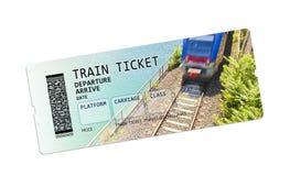 Imagem do conceito do bilhete de trem fotografia de stock royalty free