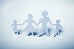 Imagem do conceito do papel do entalhe da família Imagens de Stock Royalty Free