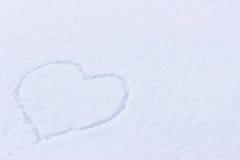 Imagem do coração na neve Fotografia de Stock Royalty Free