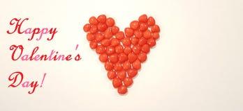 Imagem do cumprimento do dia de Valentim com os doces do coração dos doces da canela ilustração stock
