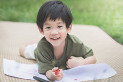 Imagem do desenho da criança com pastel Foto de Stock Royalty Free