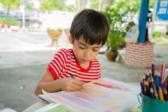 Imagem do desenho da mão da criança Imagens de Stock