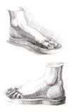 A imagem do desenho da mão de paga Foto de Stock Royalty Free