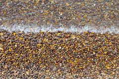 Imagem do detalhe de uma praia Imagem de Stock