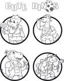 Imagem do dinossauros engraçados pequenos Fotografia de Stock Royalty Free