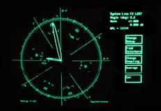 Imagem do ecrã de radar Imagens de Stock Royalty Free