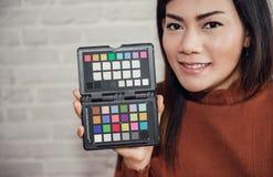 Imagem do equilíbrio do verificador da cor Fotos de Stock