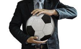 Imagem do estúdio do treinador de futebol Fotografia de Stock