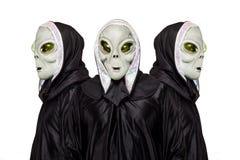 Três estrangeiros isolados no fundo branco imagens de stock royalty free