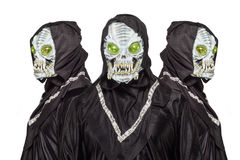 Três estrangeiros isolados no fundo branco imagem de stock royalty free