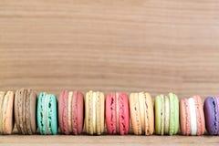 Imagem do foco da pilha do francês colorido Macarons Imagem de Stock