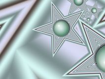 Imagem do Fractal com estrelas Para seu texto Cor verde Foto de Stock Royalty Free