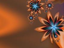 Imagem do Fractal com flores Para seu texto Cor de Brown Foto de Stock