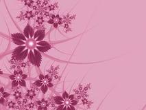 Imagem do Fractal com flores Para seu texto Cor cor-de-rosa Fotografia de Stock Royalty Free