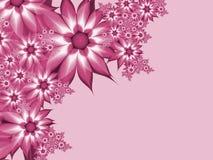 Imagem do Fractal com flores Para seu texto Cor cor-de-rosa Imagens de Stock