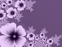 Imagem do Fractal com flores Para seu texto cor roxa Foto de Stock Royalty Free