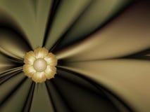 Imagem do Fractal com flores Para seu texto Cor verde Imagem de Stock