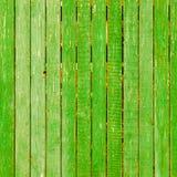 Imagem do fundo feita de placas de madeira verdes idosas Fotografia de Stock