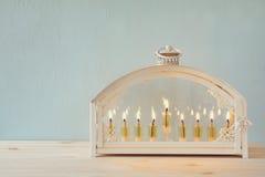 Imagem do fundo judaico do Hanukkah do feriado imagem de stock royalty free