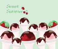 Imagem do gelado Background Ilustração Stock